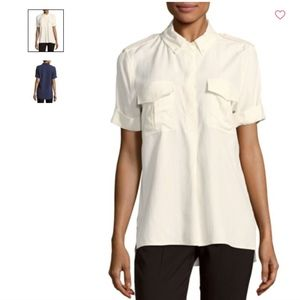 NWT White Equipment Rory Top Large